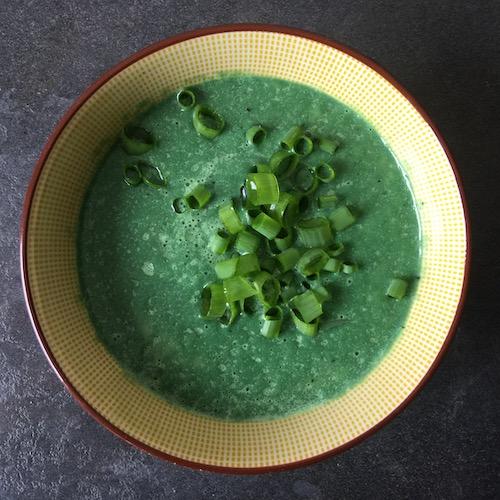soupe verte crue-chaude détox